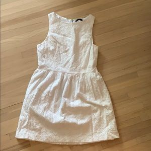 White Kenzie fit and flare dress